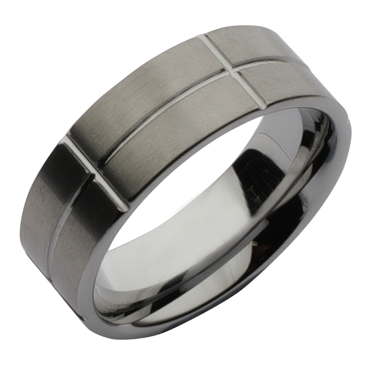 *Sale* 8mm Tungsten Designed Wedding Ring Band