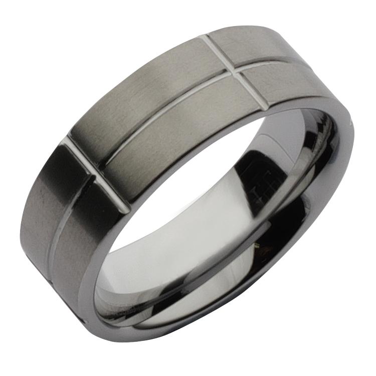 Sale 8mm Tungsten Designed Wedding Ring Band