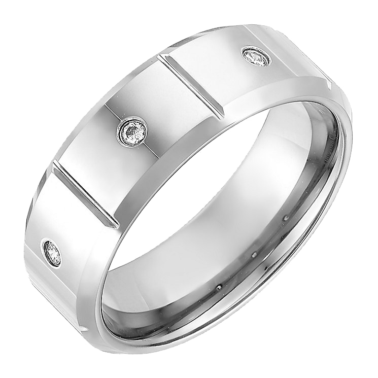 8mm Nickelfree Tungsten Flat Court Designed Wedding Ring
