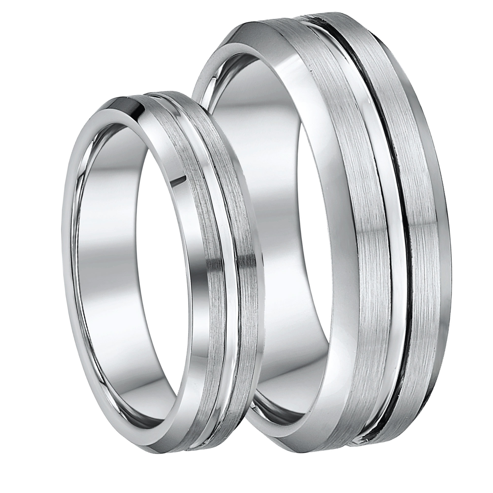 his hers 5mm 7mm tungsten wedding ring set tungsten sets at elma uk jewellery. Black Bedroom Furniture Sets. Home Design Ideas