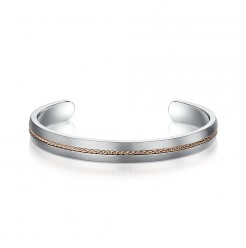 8mm Titanium Rope Inlaid Bangle-Small Medium Size