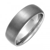 6mm Titanium Matt Wedding Ring Court Comfort Shaped Engagement Wedding Ring