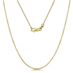 9ct Yellow Gold Diamond Cut Cable 4 Side Chain Necklace 18'' Inch