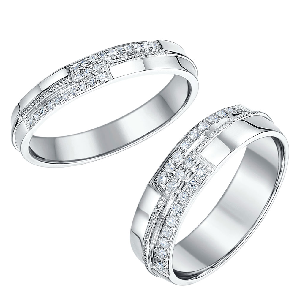 Platinum his and hers wedding rings wedding bands his - Platinum Sets White Gold