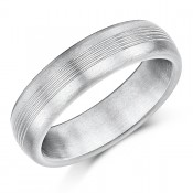 6mm Titanium Wedding Ring Grooved Matt Engagement Wedding Band