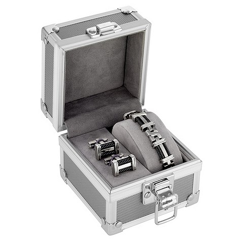 Titanium Bracelet and Cufflink Set
