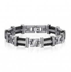 Titanium Black Cable Bracelet