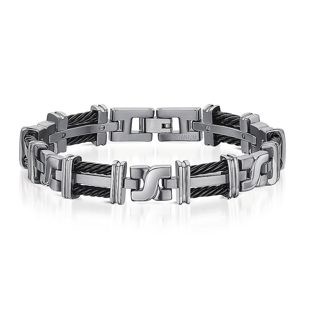 Titanium Bracelet and Cufflink Set