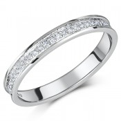 \'SALE\' 9ct White Gold Channel Set Diamond Eternity Ring 0.15ct
