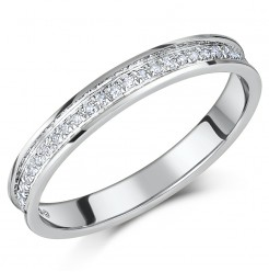 'SALE' 9ct White Gold Channel Set Diamond Eternity Ring 0.15ct