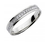 9ct White Gold Diamond Rings