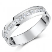 *SALE*  4.5mm 9ct White Gold Half Eternity .50ct Half Carat Diamond Ring
