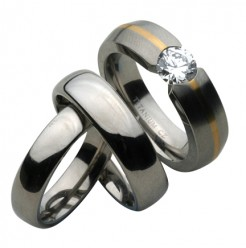 His & Hers Engagement & Court Wedding Rings 4&6mm
