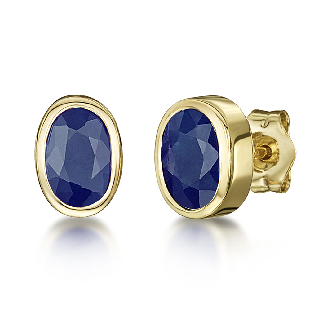 round earrings gold yellow huggie stud vintage in img sapphire baguette diamond