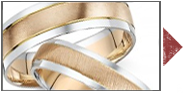 9ct Two Colour Gold Rings