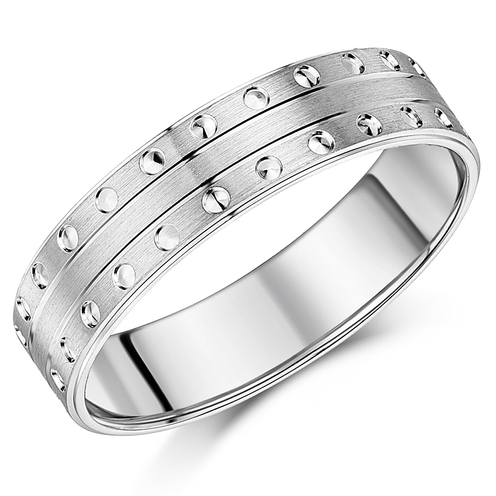 Silver Patterned Rings and Sterling Silver Wedding Bands for Men and ...