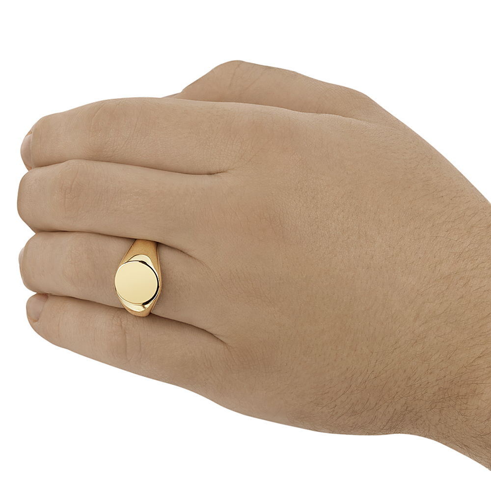 9ct Yellow Gold Men's Oval Shape Extra Heavy Weight Signet