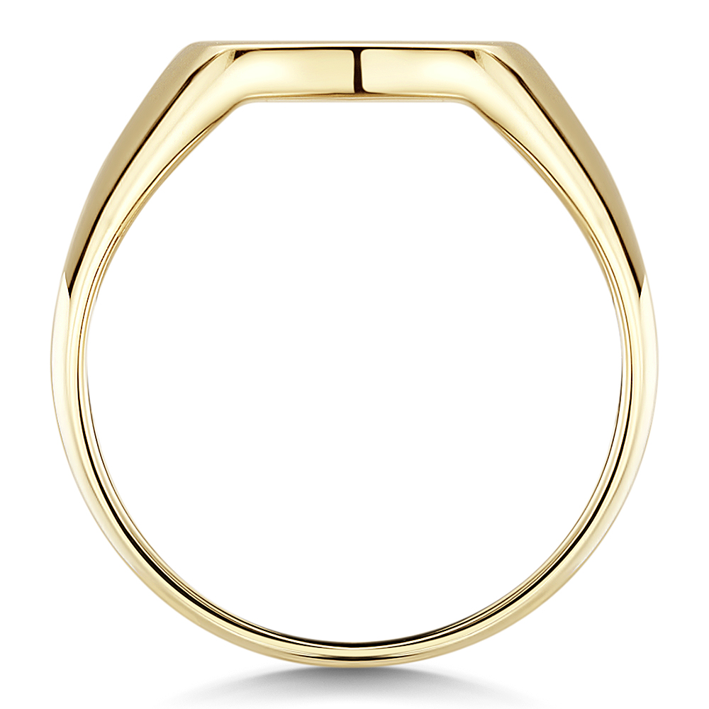 9ct Yellow Gold Men S Cushion Shape Heavy Weight Signet