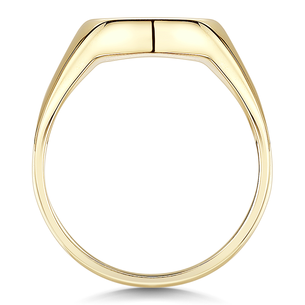 9ct Yellow Gold Men S Cushion Shape Extra Heavy Weight