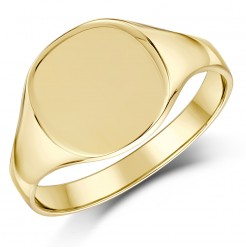 9ct Yellow Gold Cushion Shape Ladies Signet Ring