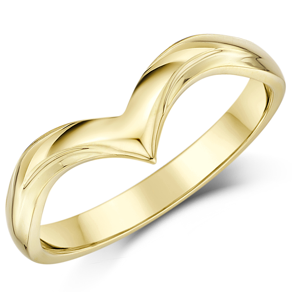 yellow ring womens bands and s solid women gold men mens plain band wedding itm