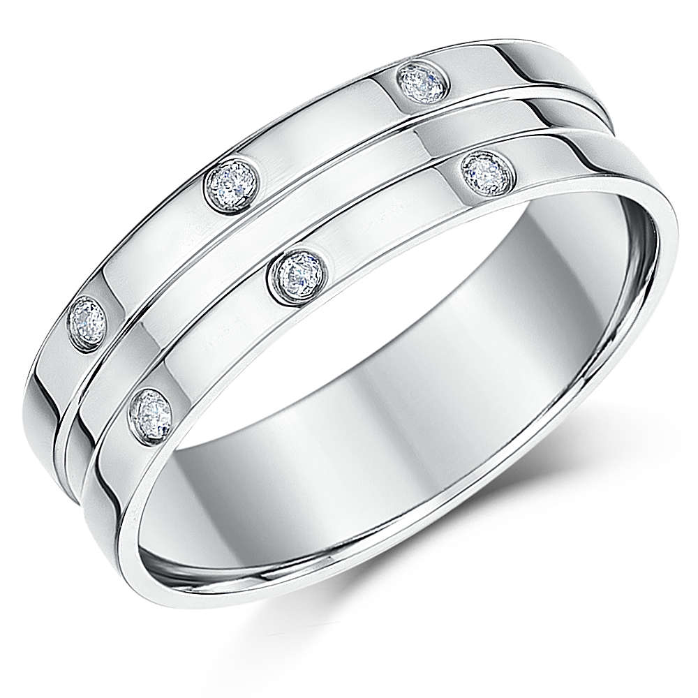 bands bevelled band platinum mens rings wedding cut jewellery diamond edge to birmingham made order element