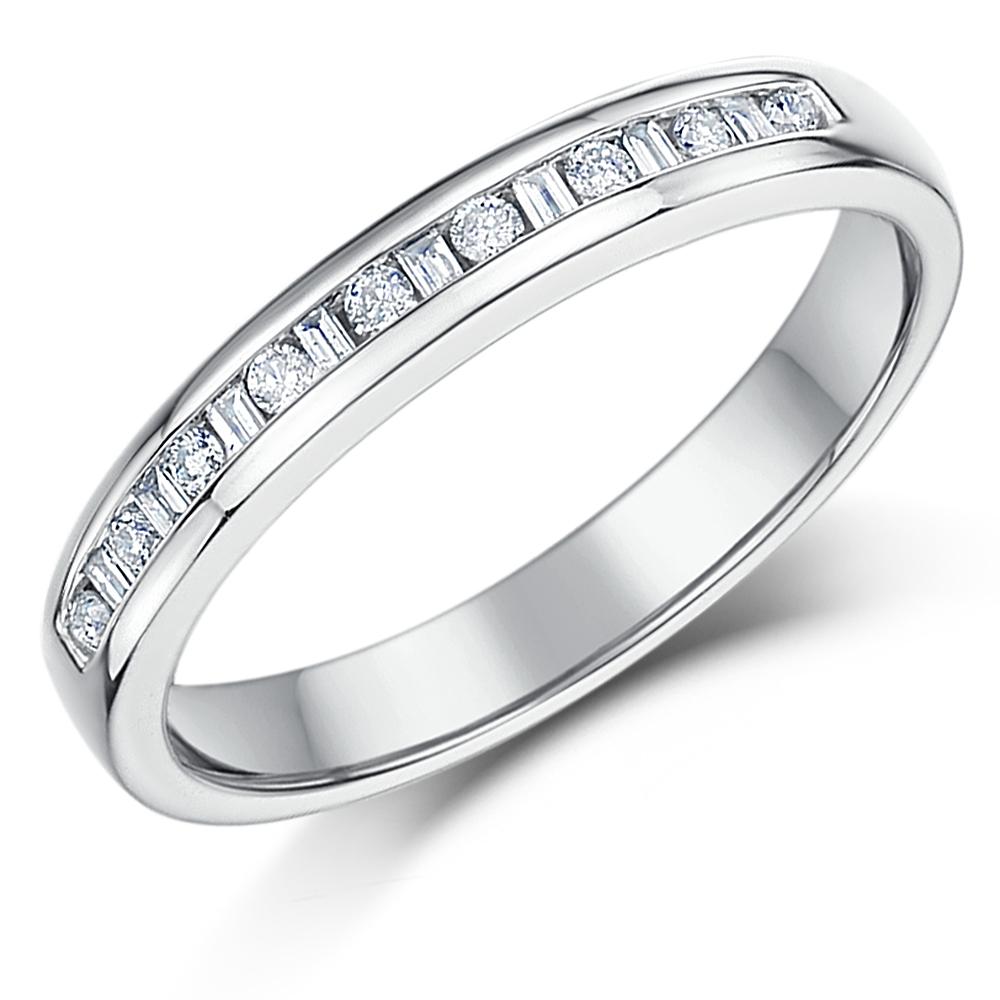 3mm 0.15ct White Gold 18ct Princess Cut Diamond Wedding Ring