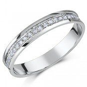 3.5mm Palladium 1/4 Carat Diamond Half Eternity Ring