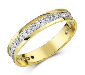 4mm 9ct Yellow Gold Third Carat Diamond Eternity Ring
