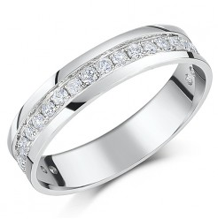 4.5mm 9ct White Gold Half Carat Eternity Ring