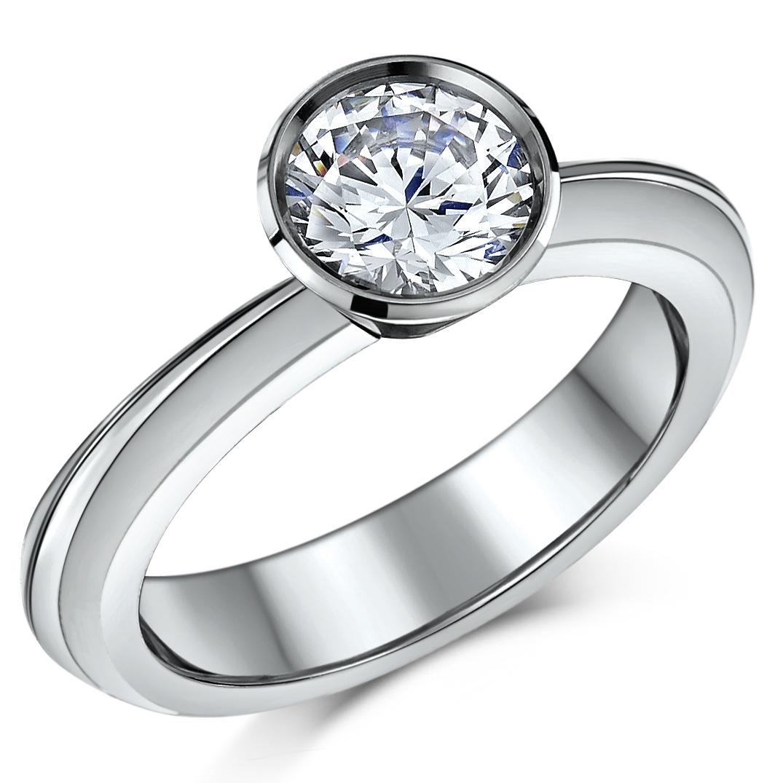 Titanium 2ct Flush Set Engagement ring