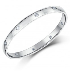 2mm 18ct White gold court Shape Diamond Wedding Ring
