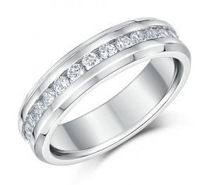 6mm Ladies Eternity Ring Full Eternity CZ Stones Engagement Wedding Band