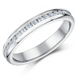 "4mm Titanium C""Z Full Eternity Ring"