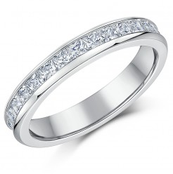 "4mm Titanium Princess Cut C""Z Full Eternity Ring"