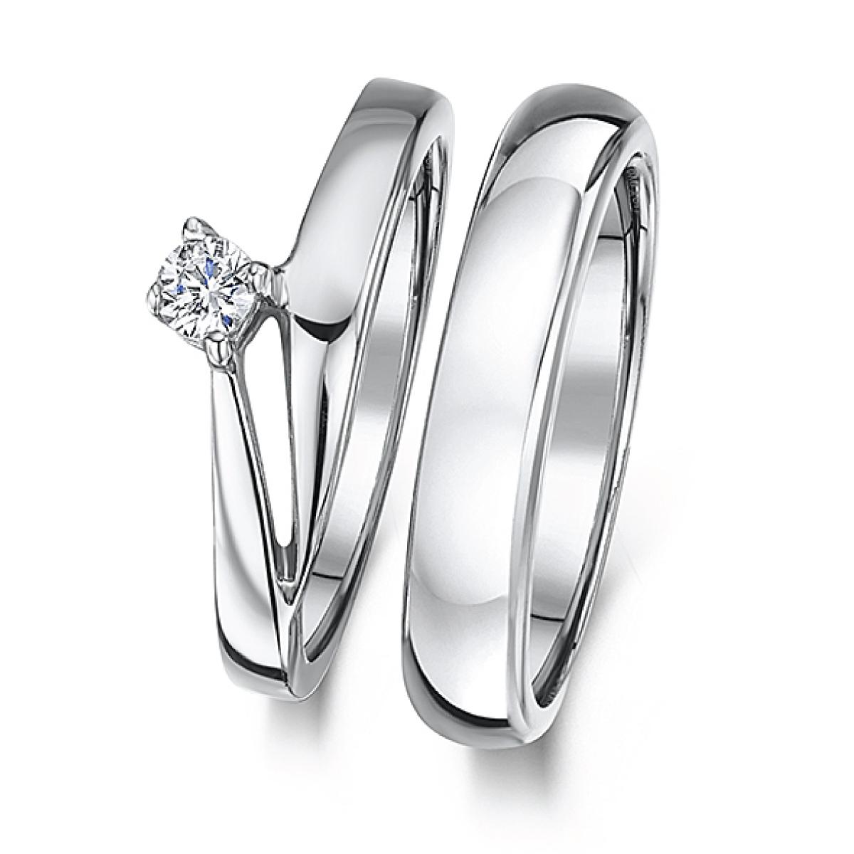 Cobalt Illusion crossover engagement & 3mm Bridal Set Ring