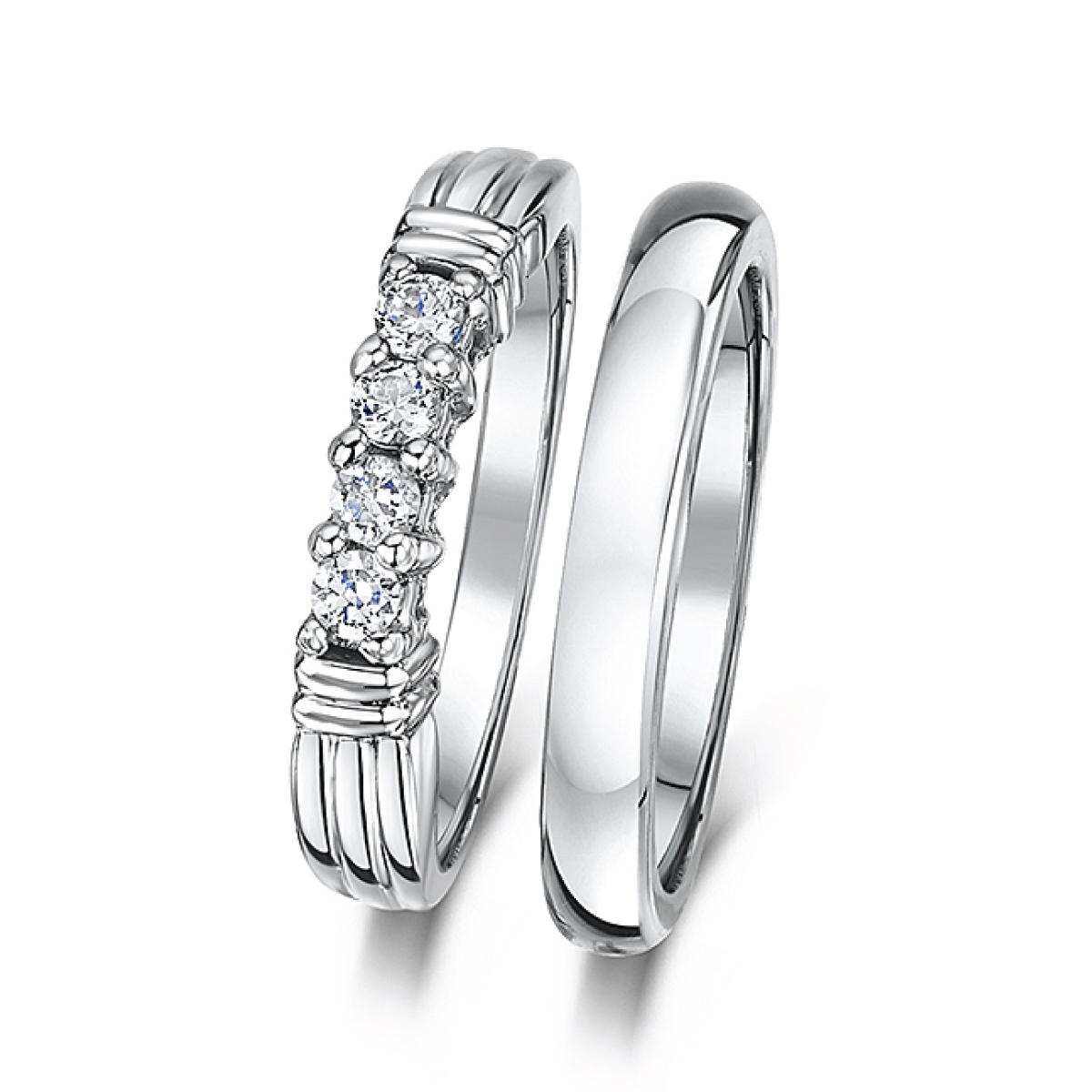 wedding white shiny ring nation edges polished products with rings tungsten cobalt beveled black
