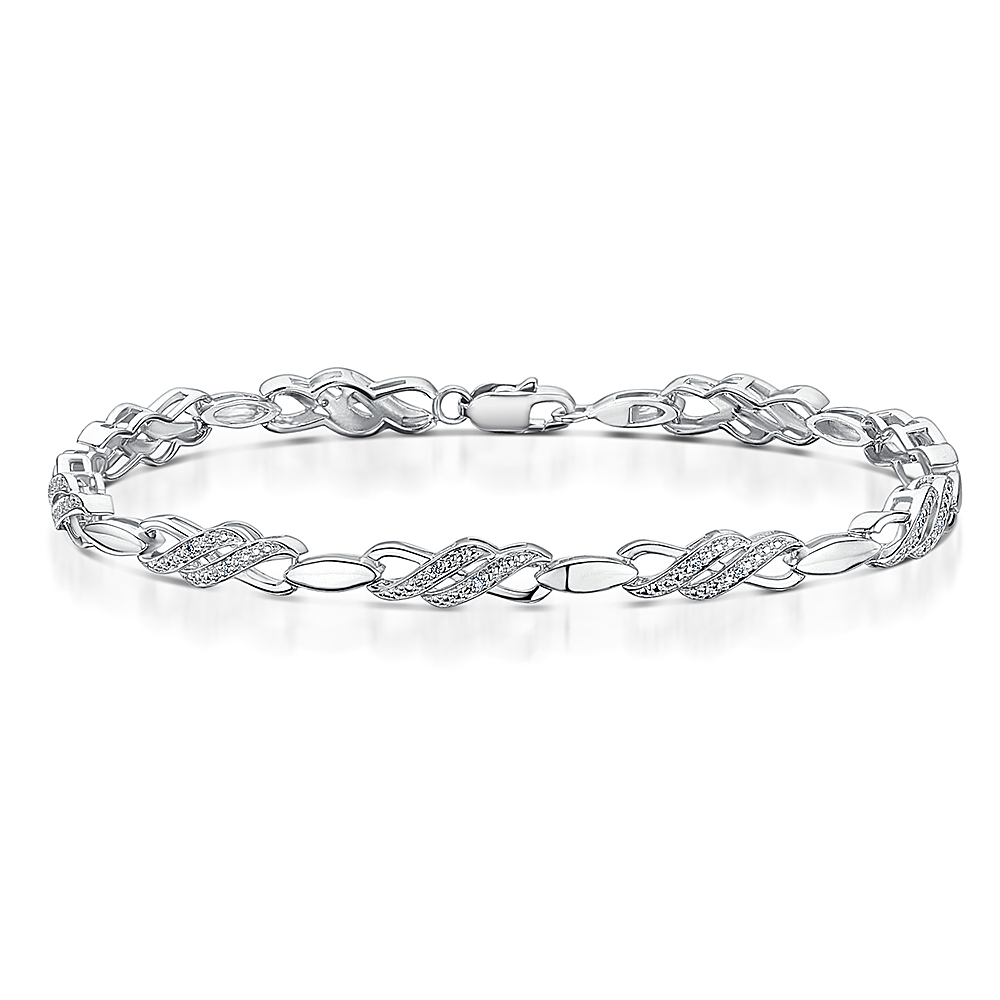 jewellery tennis image womens sterling bangle cubic diamond silver inches bracelet bracelets bangles zirconia