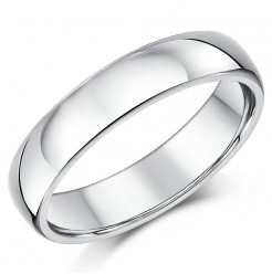 5mm Silver Super Heavy Weight Court Shape Wedding Ring