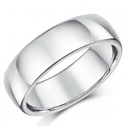 7mm Silver Super Heavy Weight Court Shape Wedding Ring