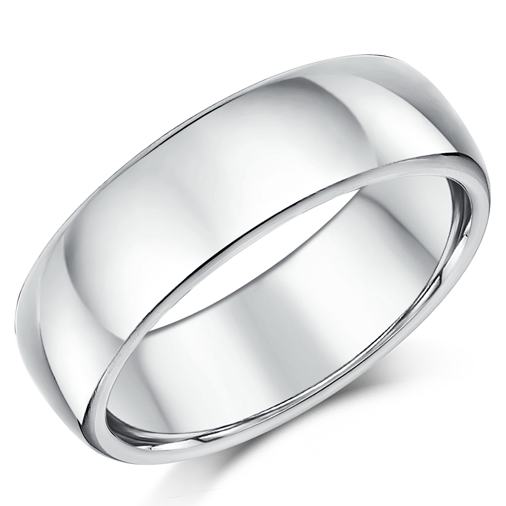Silver wedding rings plain sterling silver wedding bands for Silver band wedding rings