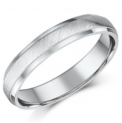 4mm Sterling Silver Matt & Polished Ring