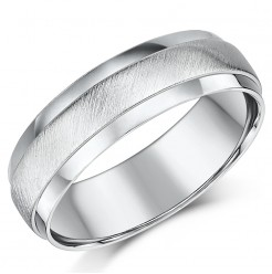 6mm Sterling Silver Matt & Polished Ring