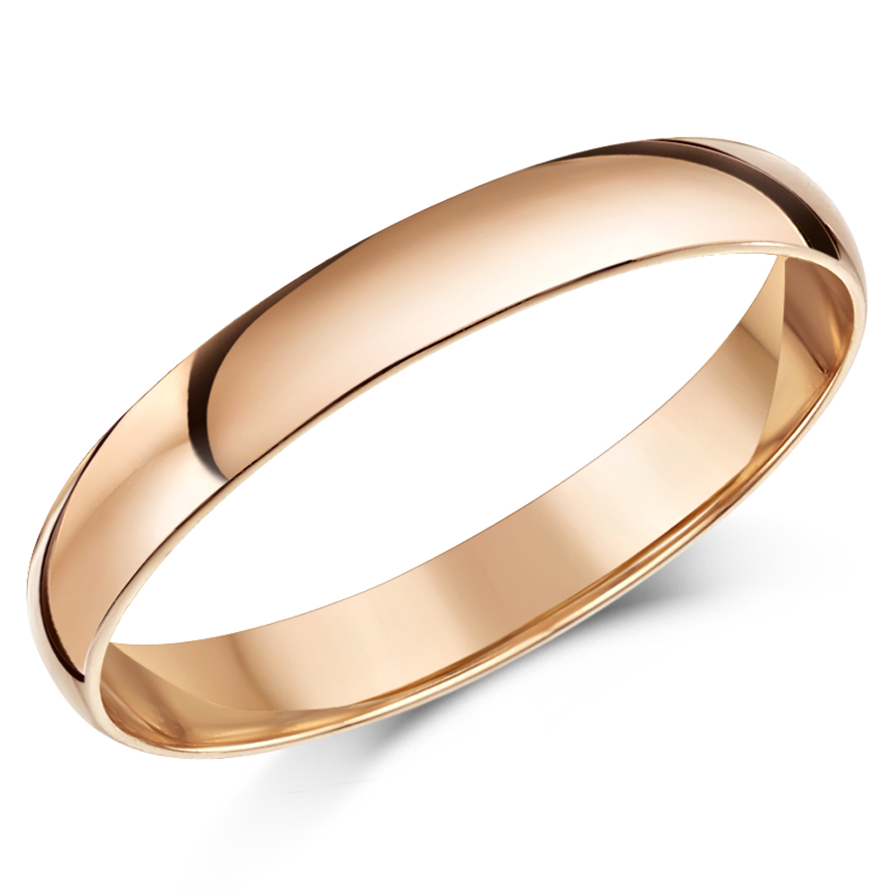 Rose Gold Rings Plain 18ct 9Ct Rose Gold Wedding Rings and Bands