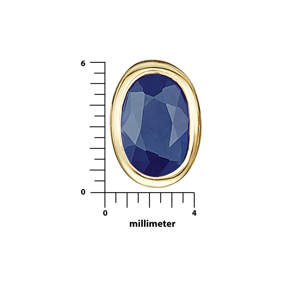 9ct Yellow Gold 18'' Chain Pendant & Earrings Blue Sapphire Set