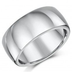 Titanium Court Shaped Wedding Ring 10mm
