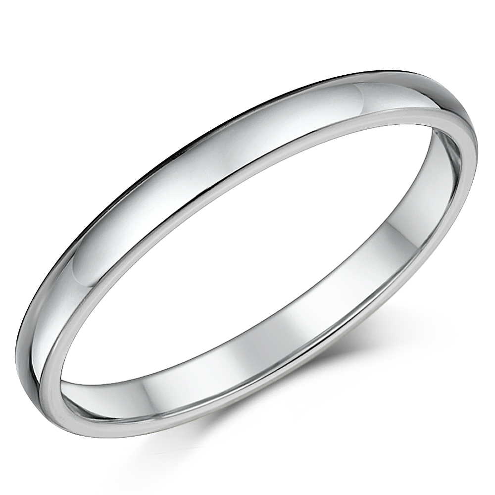 Titanium Court Shaped Wedding Ring 2.5mm