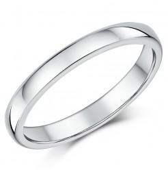 Titanium Court Shaped Wedding Ring 3mm