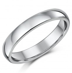 Titanium Court Shaped Wedding Ring 4mm