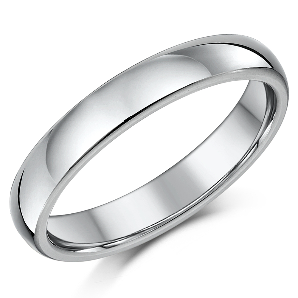 4mm Cobalt Heavy Weight Ring Court Comfort Unisex Wedding Ring Band